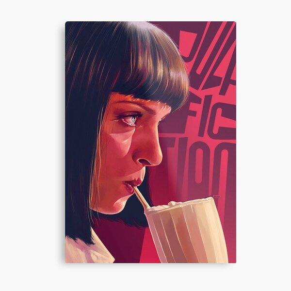 Mia Wallace Pulp Fiction Metal Print