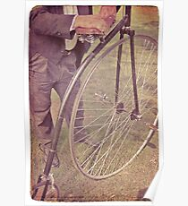 Penny-farthing in the park Poster