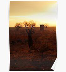 Ethiopia silhouette Poster