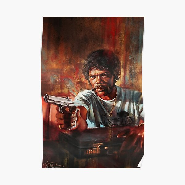 Samuel L Jackson In Pulp Fiction as Jules Winnifield Poster