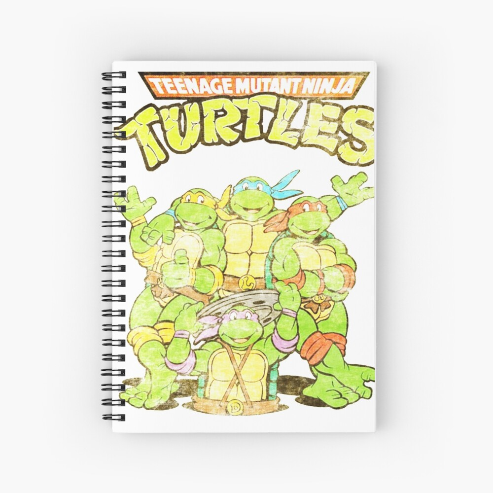Retro Ninja Turtles Spiral Notebook