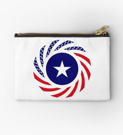 Liberian American Multinational Patriot Flag Series Zipper Pouch