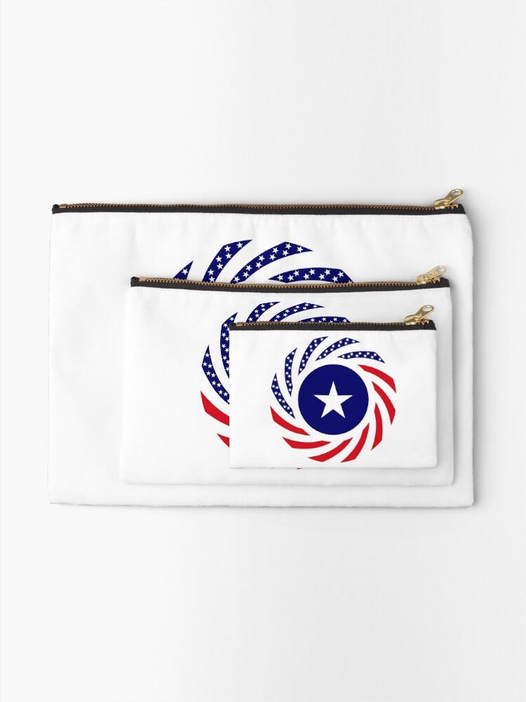 Alternate view of Liberian American Multinational Patriot Flag Series Zipper Pouch