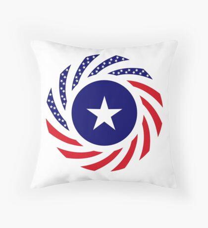 Liberian American Multinational Patriot Flag Series Throw Pillow
