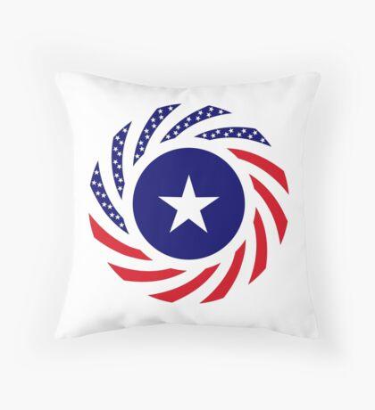 Liberian American Multinational Patriot Flag Series Floor Pillow