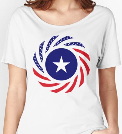 Liberian American Multinational Patriot Flag Series Relaxed Fit T-Shirt