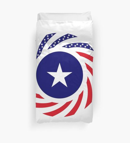 Liberian American Multinational Patriot Flag Series Duvet Cover