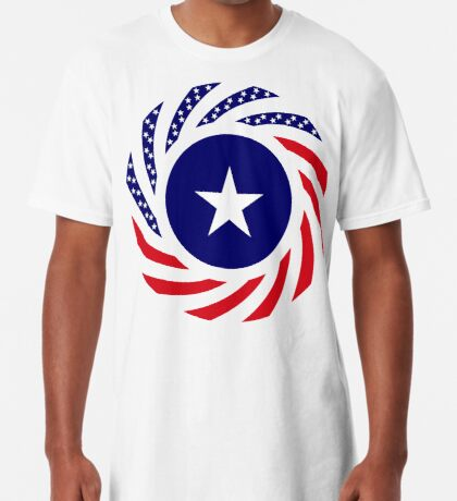 Liberian American Multinational Patriot Flag Series Long T-Shirt