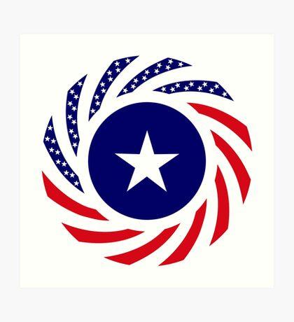 Liberian American Multinational Patriot Flag Series Art Print