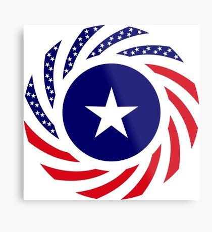 Liberian American Multinational Patriot Flag Series Metal Print