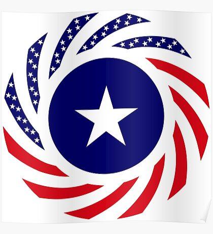 Liberian American Multinational Patriot Flag Series Poster
