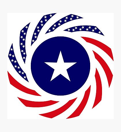Liberian American Multinational Patriot Flag Series Photographic Print