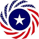 Liberian American Multinational Patriot Flag Series by Carbon-Fibre Media
