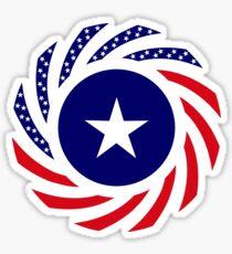 Liberian American Multinational Patriot Flag Series Sticker