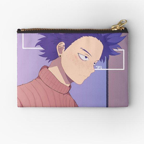 Purple Freckled Boy Zipper Pouch