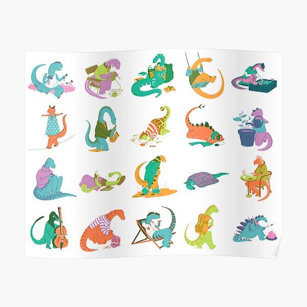 Fresques de dinos Poster