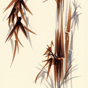 Huntington Gardens Plein Air Bamboo Drawing #1 by tranquilwaters