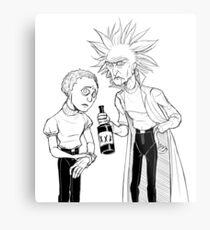 Rick and Morty (Stylised) Metal Print