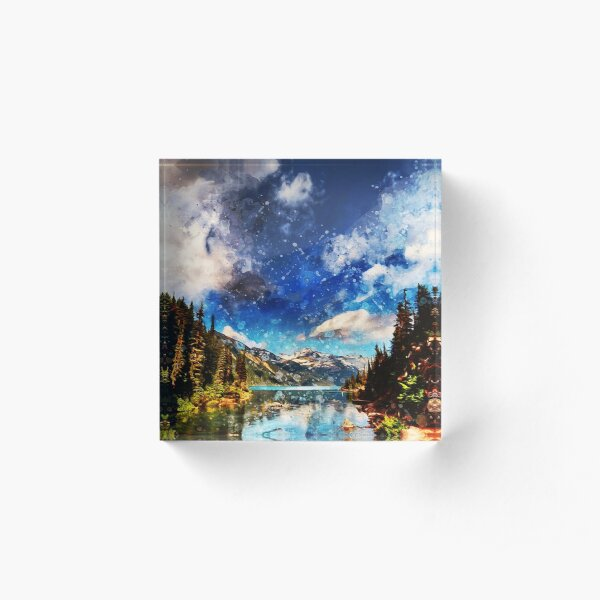 Yellowstone National Park Acrylic Block