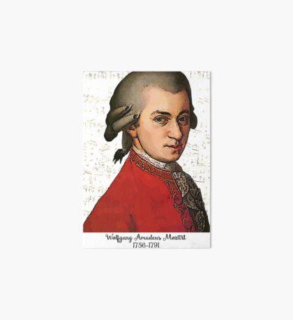 Wolfgang Amadeus Mozart Grunged Art Board