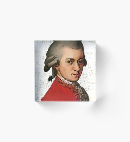 Wolfgang Amadeus Mozart Grunged Acrylic Block