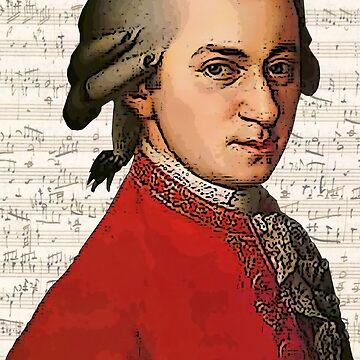 Wolfgang Amadeus Mozart Grunged by DesignsByDebQ