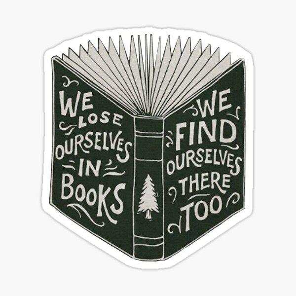 Nous nous perdons dans les livres ... Sticker