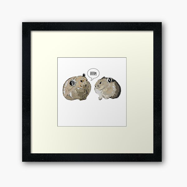 Two American Pika Framed Art Print