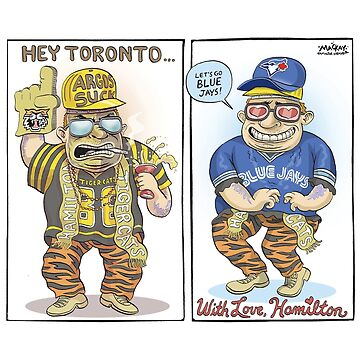 Hamilton Ticat fan of Toronto Blue Jays by MacKaycartoons