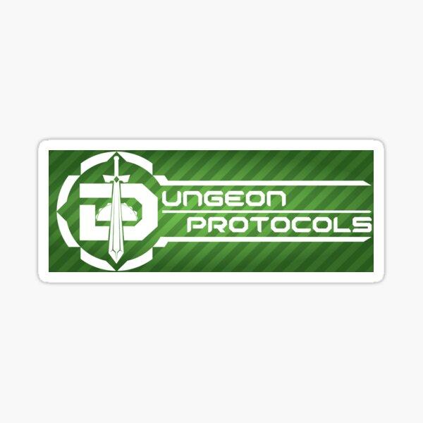 Dungeon Protocols New long logo Sticker