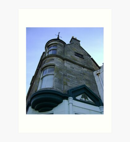 the waiting windows (glass and stone curved, turret, Burntisland) Art Print