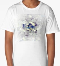 Cubism-inspired Digital Art | Ice Abstraction Abstract Pattern | Cubists Art Long T-Shirt