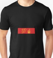 100, one, hundred, fire, flame, emoji Unisex T-Shirt
