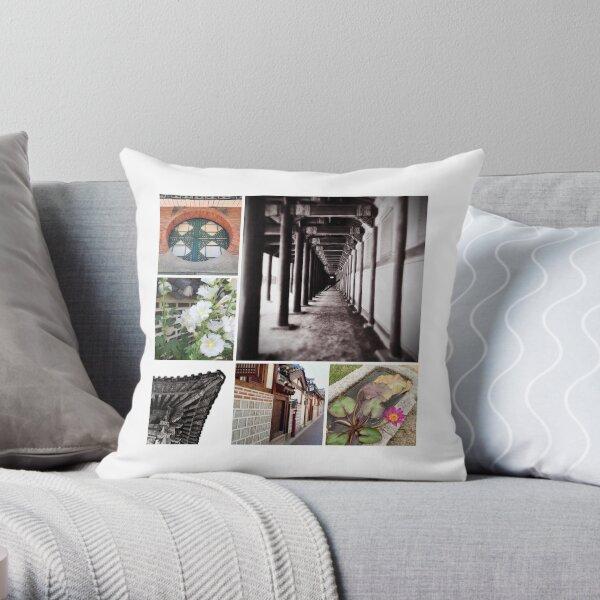 Seoul Collage Throw Pillow