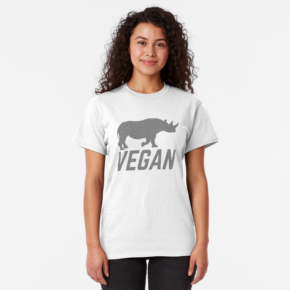 vegan rhino Classic T-Shirt