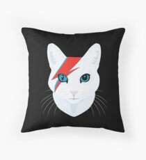 Cat Bowie Throw Pillow