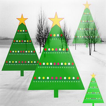 Christmas trees in a snow landscape by robelf