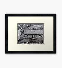 The Comfort of Thatched Roofs Framed Print