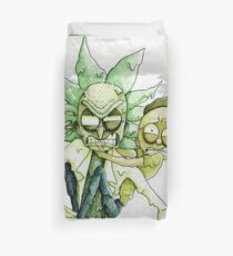 Toxic Rick and Morty Duvet Cover