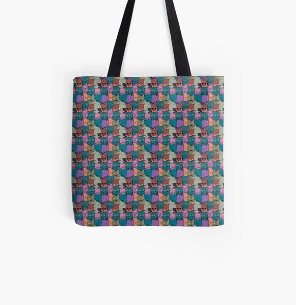 The Cats Family All Over Print Tote Bag