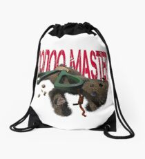 cute halloween voodoo master teddy Drawstring Bag