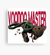 cute halloween voodoo master teddy Canvas Print