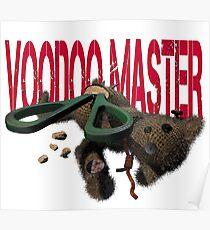 cute halloween voodoo master teddy Poster