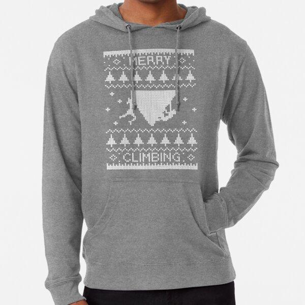 Merry Climbing Christmas bouldering belay T-shirt Lightweight Hoodie