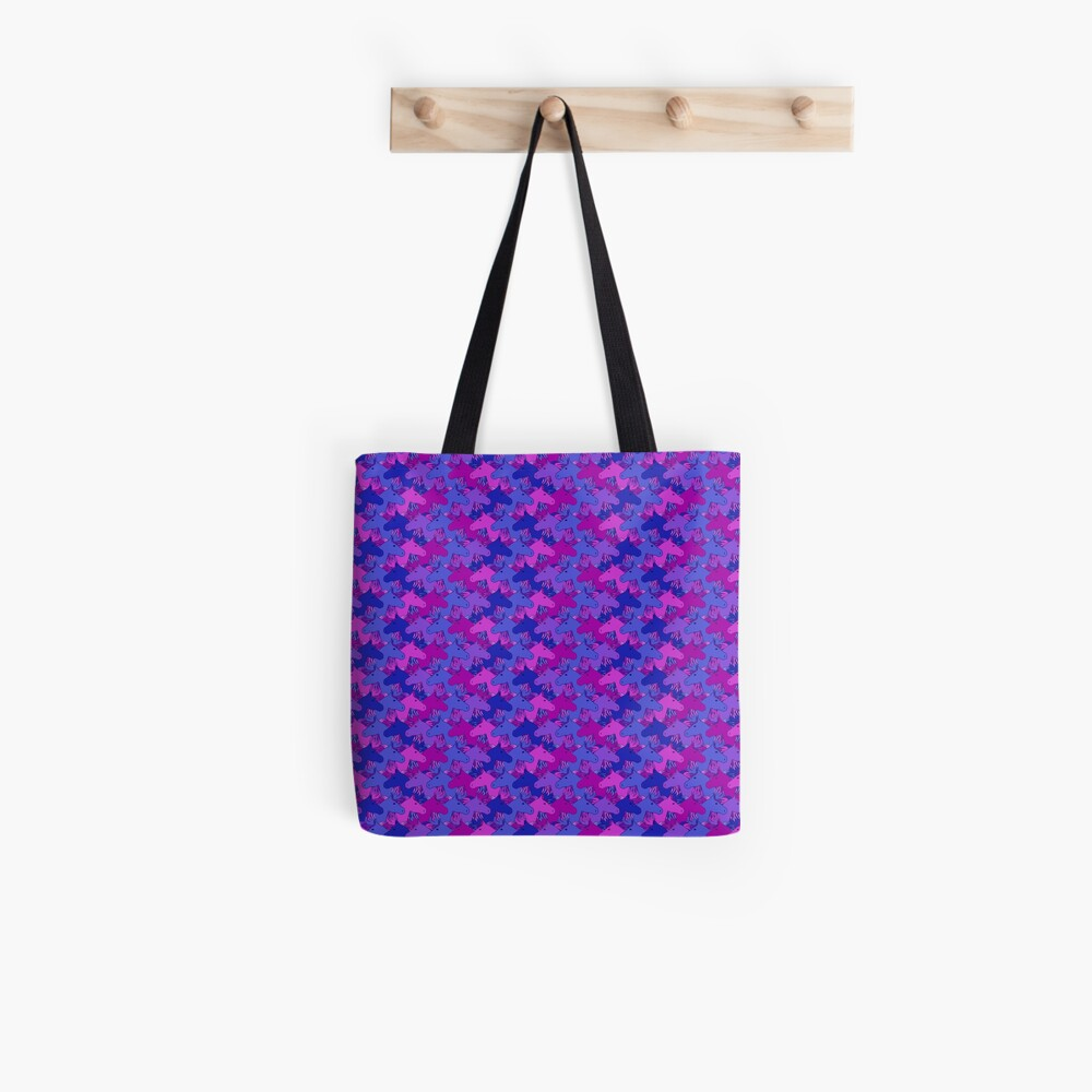 Running horses in purple/blue Tote Bag