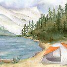 Elizabeth Lake- Yosemite by Diane Hall