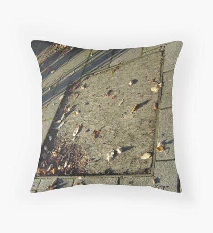 autumn quadrilateral (pavement in Fall, Burntisland) Throw Pillow