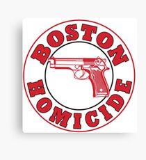 Rizzles Boston Homicide Logo Canvas Print