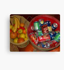 Eat and Drink Canvas Print