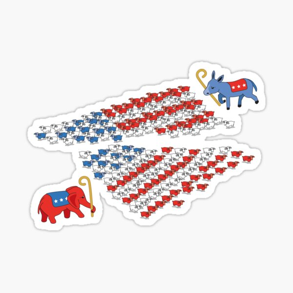 United States Political Divide  Sticker